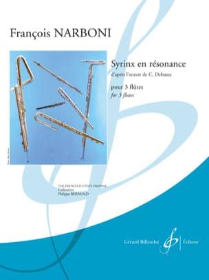 Syrinx en résonance - 3 Flûtes François Narboni Partition laflutedepan