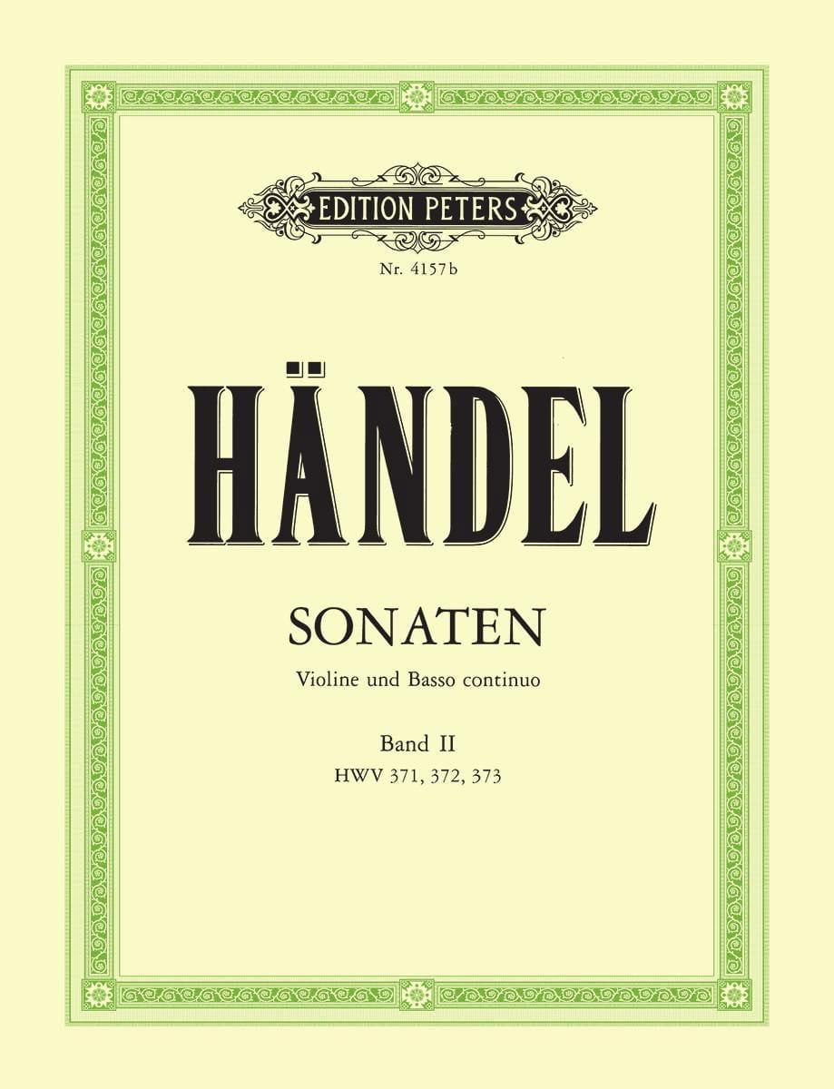 Sonaten Band 2 - HAENDEL - Partition - Violon - laflutedepan.com