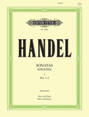 HAENDEL - Flute Sonatas Volume 1 - No. 1-3 - Partition - di-arezzo.com