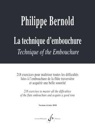 La Technique d'Embouchure Philippe Bernold Partition laflutedepan