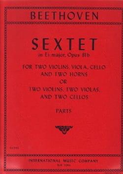 Sextet in Eb major op. 81b -Parts BEETHOVEN Partition laflutedepan