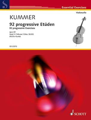 92 Etudes Progressives, Volume 2 Friedrich August Kummer laflutedepan