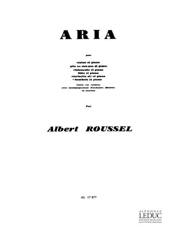 Aria - Hautbois et piano - ROUSSEL - Partition - laflutedepan.com