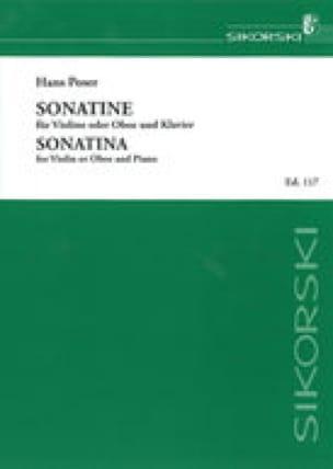 Sonatine für Violine oder Oboe - Hans Poser - laflutedepan.com