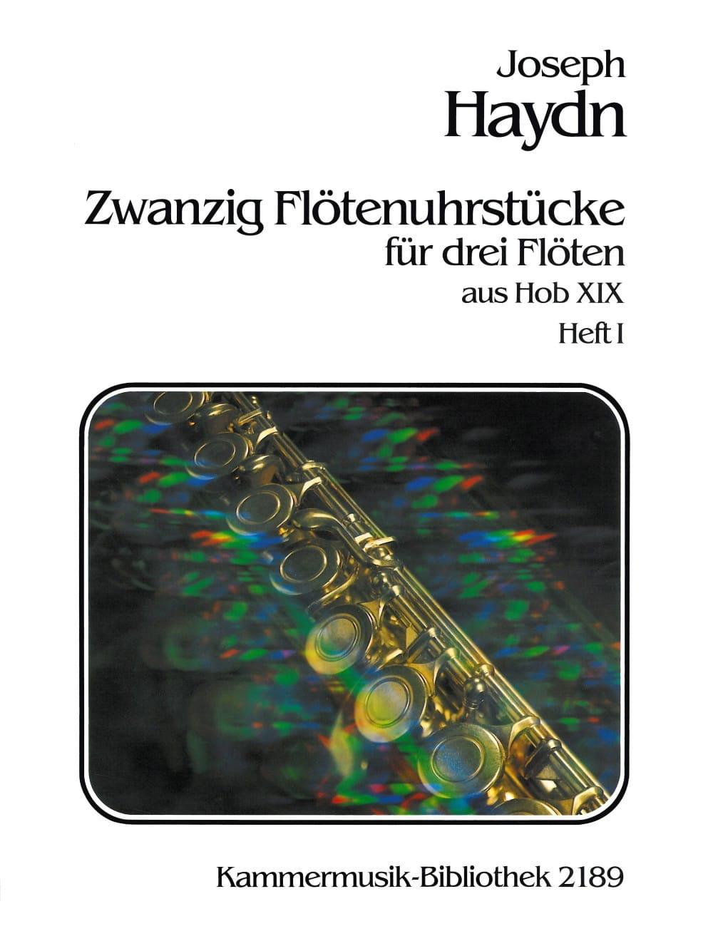 20 Flötenuhrstücke Aus Hob. 19 Heft 1 - 3 Flöten - laflutedepan.com