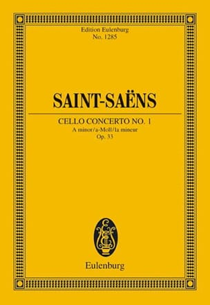 Violoncello-Konzert Nr. 1 a-moll SAINT-SAËNS Partition laflutedepan