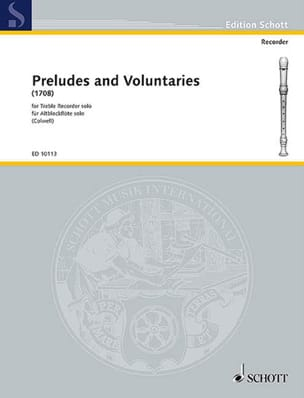 Preludes and Voluntaries 1708 - Treble recorder solo laflutedepan
