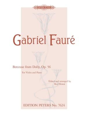 Berceuse de Dolly Op.56 FAURÉ Partition Violon - laflutedepan