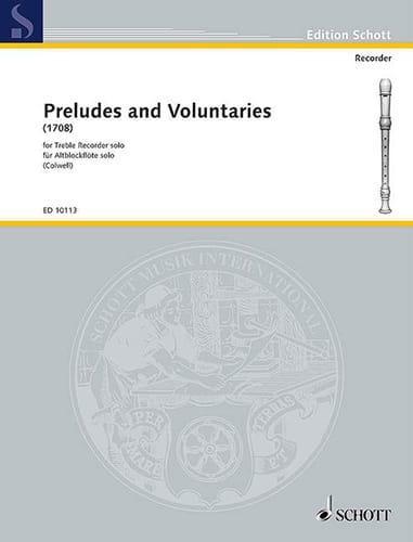Preludes and Voluntaries 1708 - Treble recorder solo - laflutedepan.com