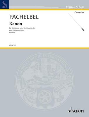 Kanon - Partitur PACHELBEL Partition Grand format - laflutedepan