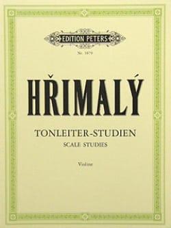 Tonleiter-Studien Johann Hrimaly Partition Violon - laflutedepan