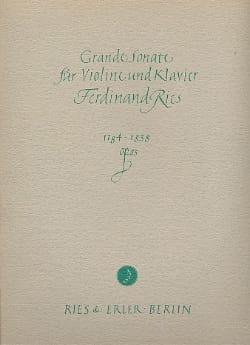 Grande sonate op. 83 Ferdinand Ries Partition Violon - laflutedepan