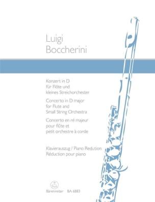 Concerto ré majeur op. 27 - Flûte piano BOCCHERINI laflutedepan
