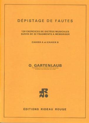 Dépistage de fautes Odette Gartenlaub Partition laflutedepan
