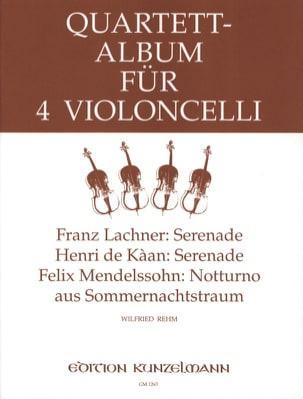 Quartett Album für 4 Violoncelli -Stimmen Wilfried Rehm laflutedepan