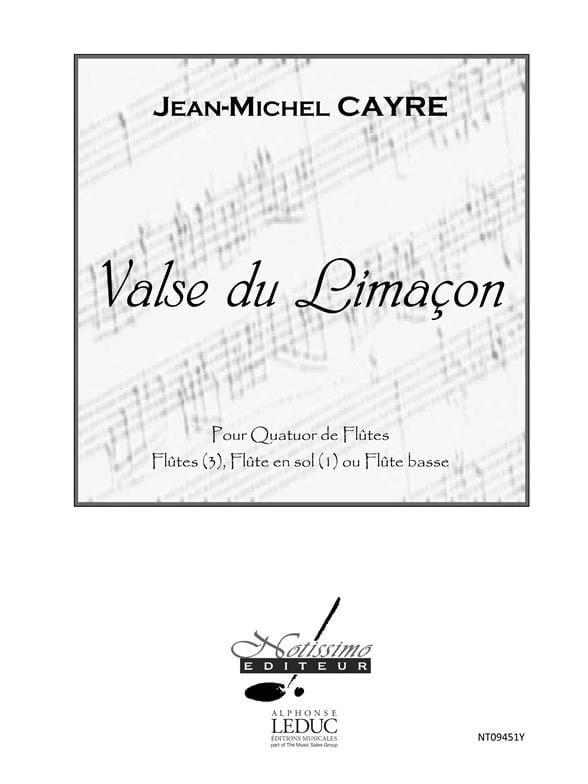 Valse du Limaçon - Partition et Parties - laflutedepan.com