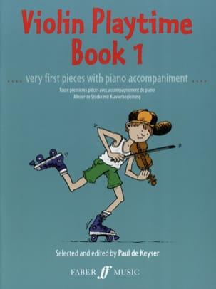 Violon playtime book 1 Paul de Keyser Partition Violon - laflutedepan