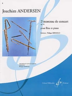 2ème Morceau de concert op. 61 ANDERSEN Partition laflutedepan
