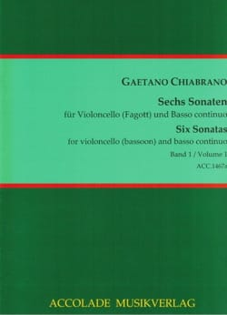 6 Sonaten Vol. 1 - Gaetano Chiabrano - Partition - laflutedepan.com