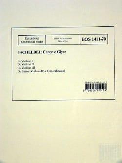 Kanon -Stimmen - PACHELBEL - Partition - Quatuors - laflutedepan.com