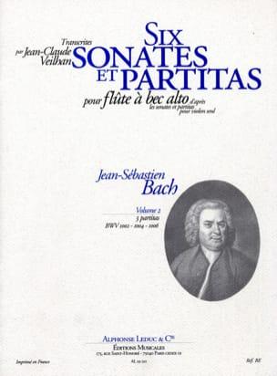 6 Sonates et Partitas - Volume 2 BACH Partition laflutedepan