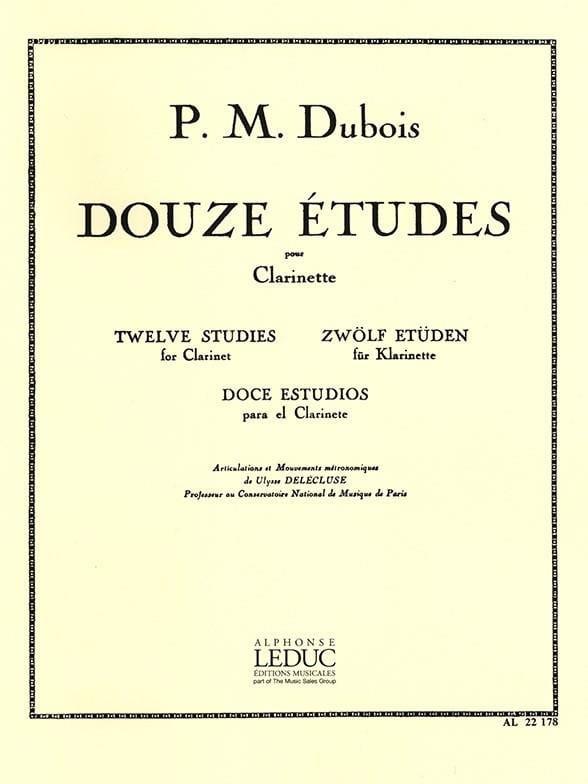 12 Etudes - Clarinette - Pierre-Max Dubois - laflutedepan.com