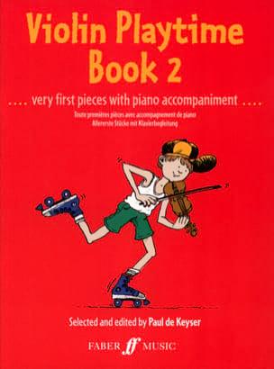 Violon Playtime book 2 Paul de Keyser Partition Violon - laflutedepan