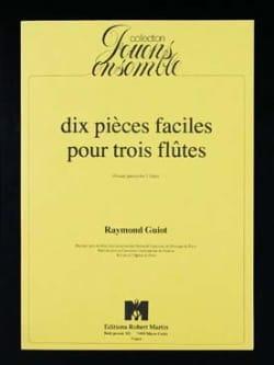10 Pièces faciles pour 3 flûtes Raymond Guiot Partition laflutedepan