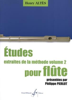 Etudes Extraites de la Méthode Volume 2 Henri Altès laflutedepan