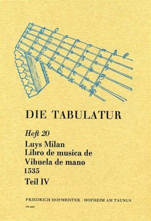 Libro de Musica de Vihuela de Mano 1535 - Livre 20 - Vol.IV laflutedepan