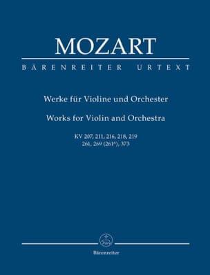 Oeuvres pour violon et Orchestre MOZART Partition laflutedepan