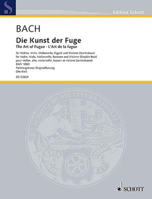 L'Art de la Fugue - Conducteur BACH Partition laflutedepan