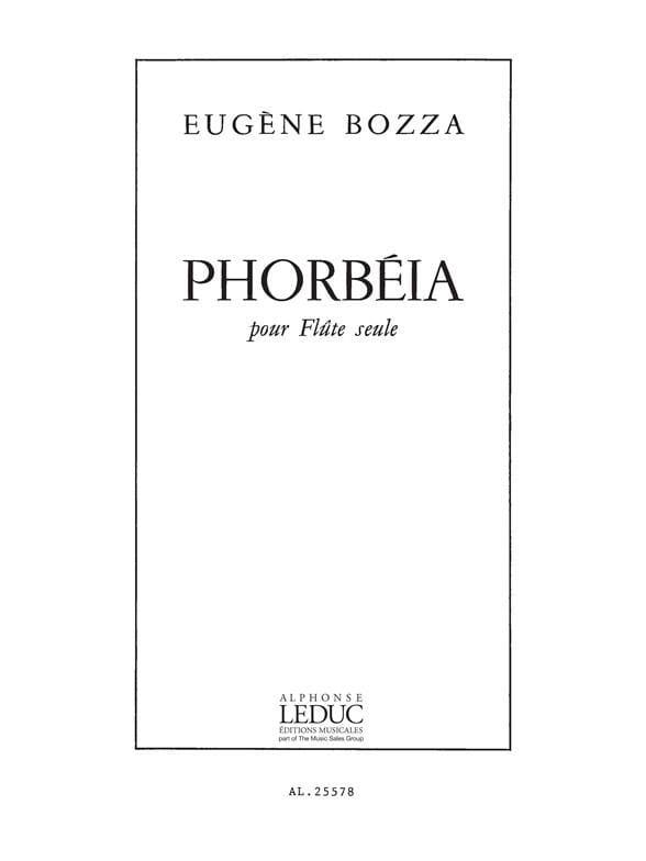 Phorbéia - Eugène Bozza - Partition - laflutedepan.com