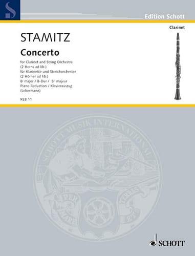 Konzert B-Dur -Klarinette Klavier - STAMITZ - laflutedepan.com