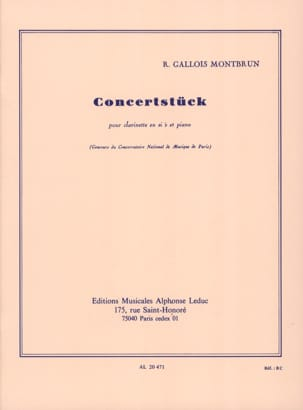 Concertstuck Raymond Gallois-Montbrun Partition laflutedepan