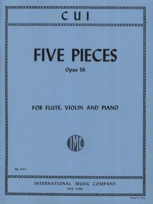5 Pieces op. 56 - Flute, violin and piano César Cui laflutedepan