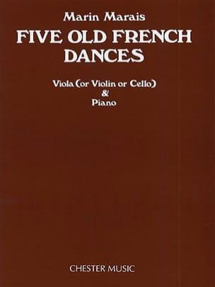 Five Old French Dances - Alto Marin Marais Partition laflutedepan