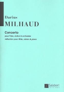 Darius Milhaud - Konzert für Flöte und Violine und Orchester - Partition - di-arezzo.de