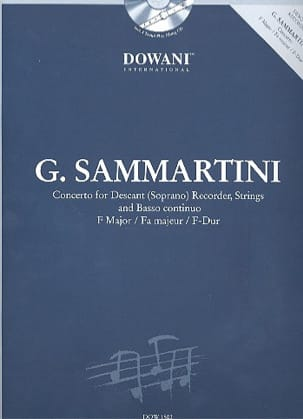 Concerto pour flûte à bec sopr. en fa maj. SAMMARTINI laflutedepan