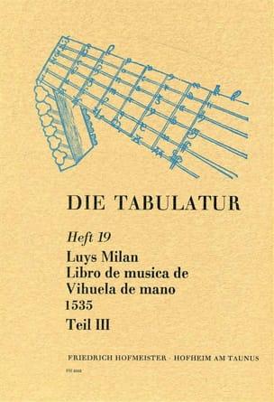 Libro de Musica de Vihuela de Mano 1535 - Livre 19 - Vol.III laflutedepan