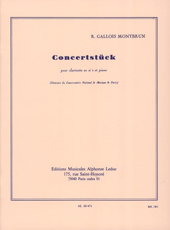 Concertstuck - Raymond Gallois-Montbrun - Partition - laflutedepan.com