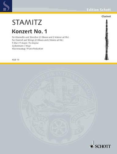 Konzert Nr. 1 F-Dur - Klarinette Klavier - STAMITZ - laflutedepan.com