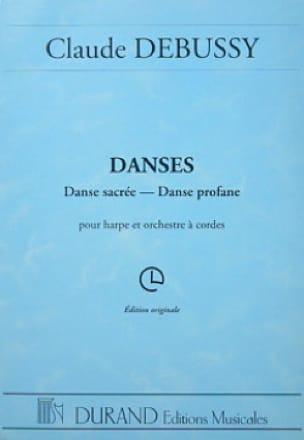 Danses - harpe et orchestre à cordes - DEBUSSY - laflutedepan.com