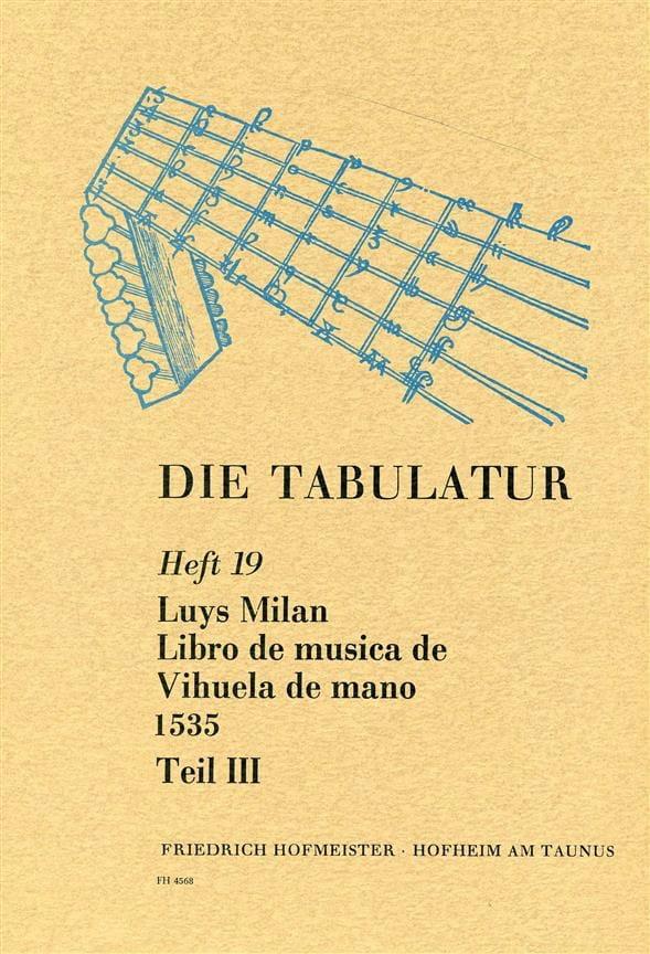 Libro de Musica de Vihuela de Mano 1535 - Livre 19 - Vol.III - laflutedepan.com
