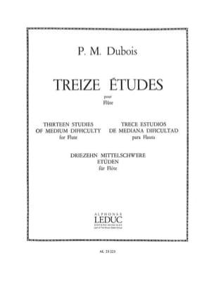 13 Etudes pour flûte Pierre-Max Dubois Partition laflutedepan