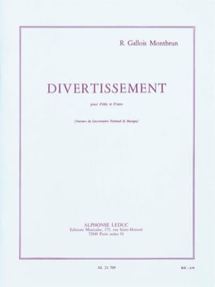 Divertissement - Flûte et piano Raymond Gallois-Montbrun laflutedepan