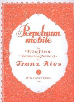 Perpetuum Mobile op. 34 n° 5 Franz Ries Partition laflutedepan