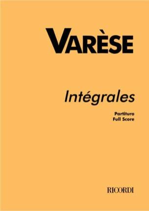 Intégrales - Partitur Edgard Varèse Partition laflutedepan
