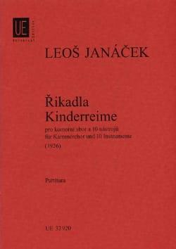 Rikadla - Kinderreime 1926 - Partitur JANACEK Partition laflutedepan