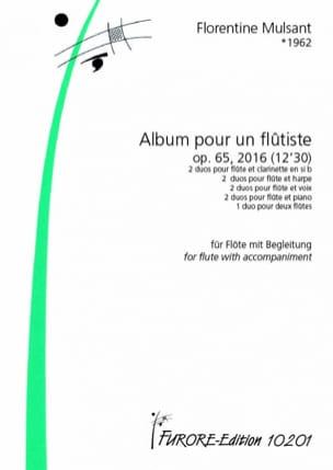 Album pour un Flûtiste, op. 65 Florentine Mulsant laflutedepan